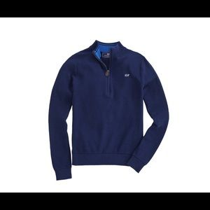 Vineyard vines boys classic zip mock neck sweater